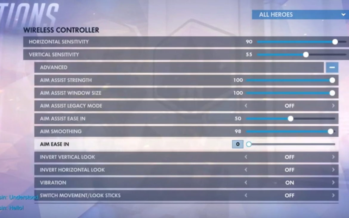 ow console settings