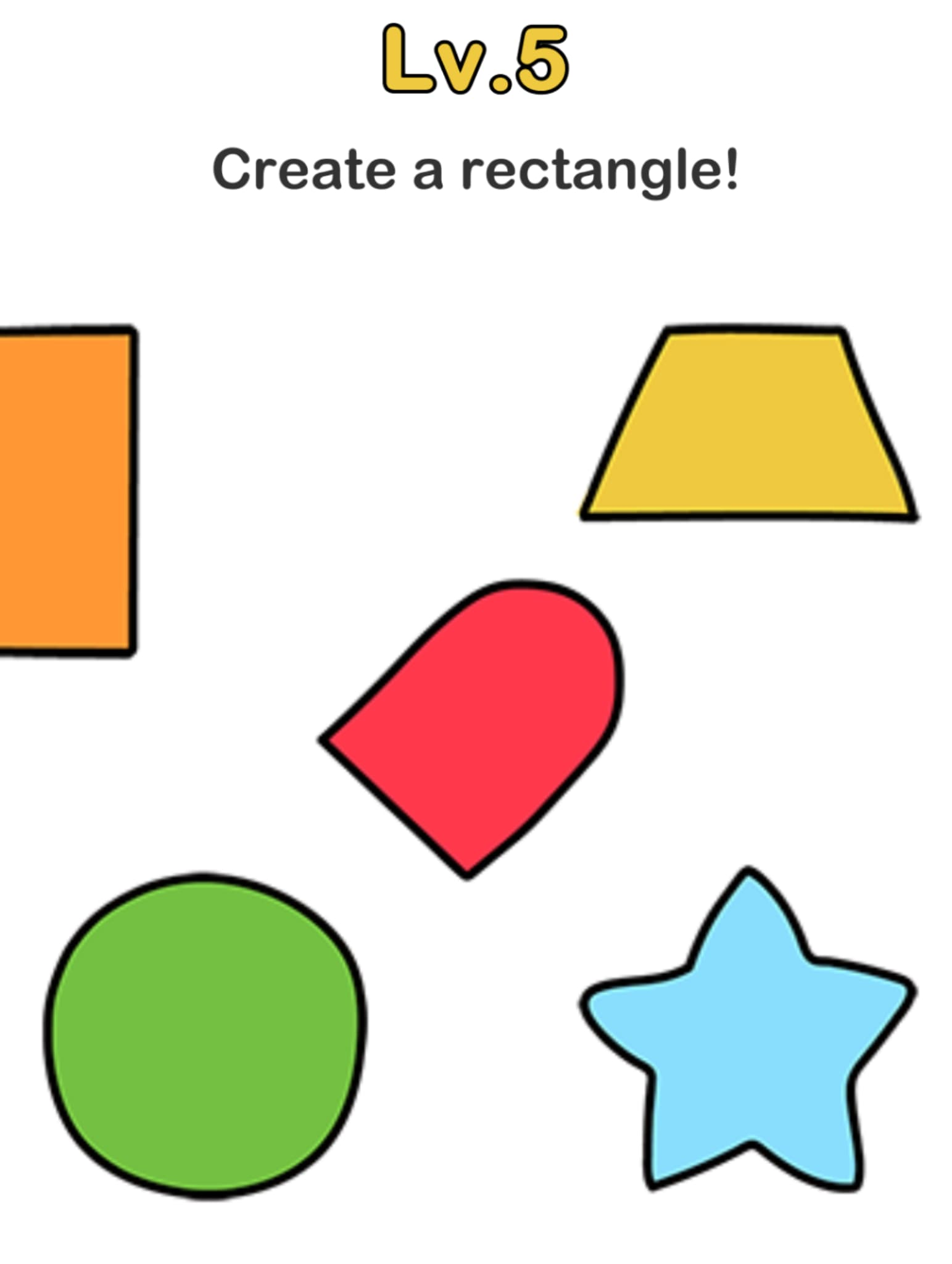 Brain out level 5 create a rectangle