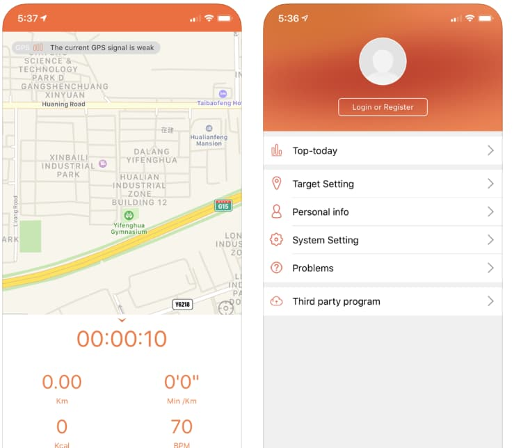 Veryfitpro app for android and ios devices