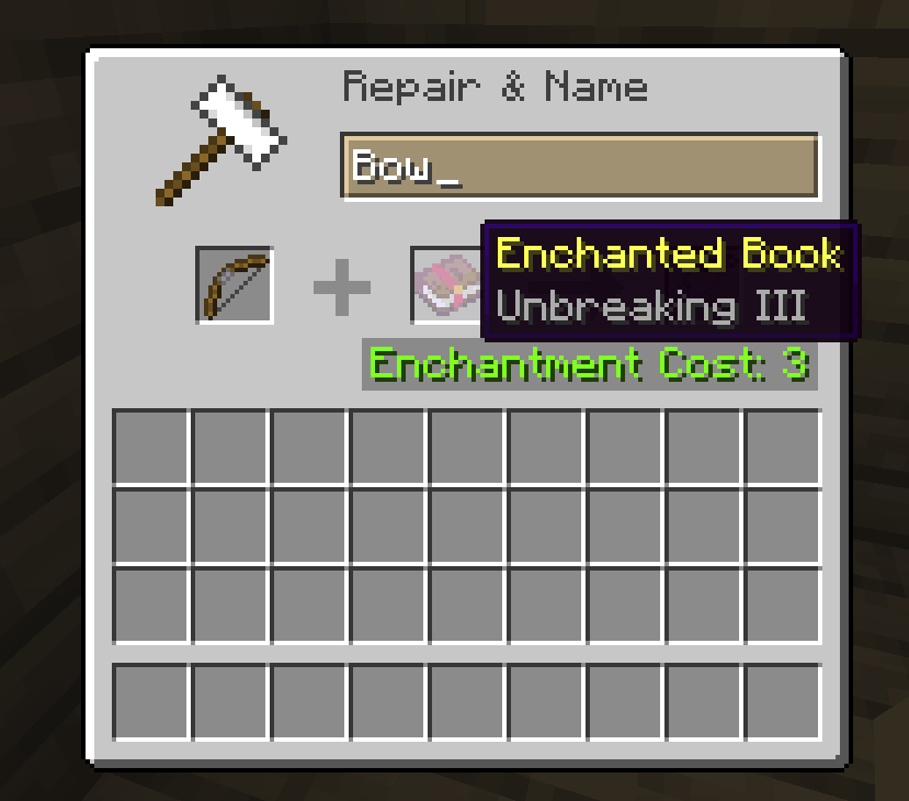 Unbreaking Crossbow Enchantments Minecraft