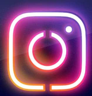 Neon Instagram Icon